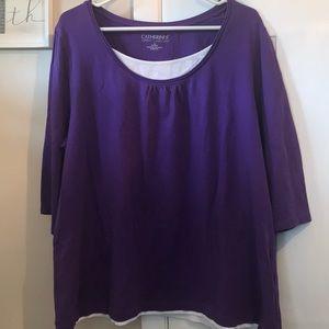 Catherine's Suprema Collection Purple Shirt 1X